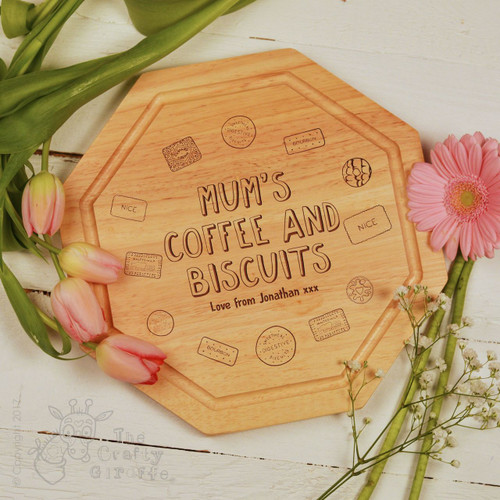 Personalised - Coffee and Biscuits Board