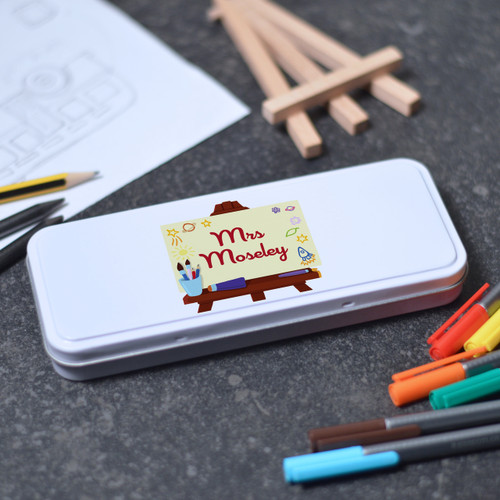 Buy Personalised Art Easel Tin From The Crafty Giraffe, the home of unique and affordable gifts for loved ones...