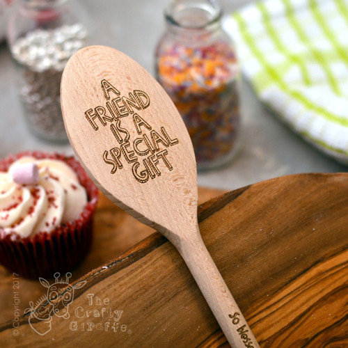 Personalised Wooden Spoon - Text Style 1