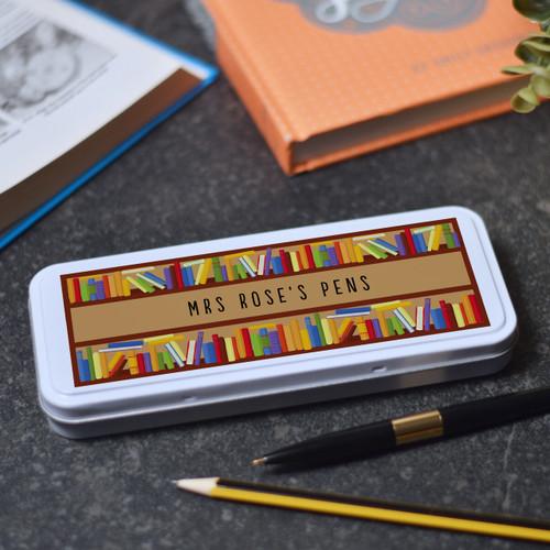 Personalised Books Pencil Tin