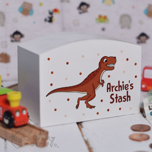 Personalised T-Rex Money Box