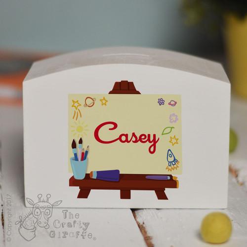 Personalised Art Easel Money Box