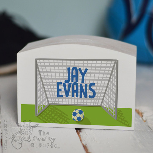 Personalised Football Money Box