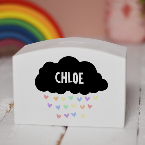 Personalised Black Cloud Money Box