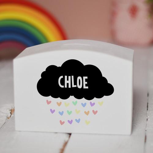 Personalised Black Cloud Money Box