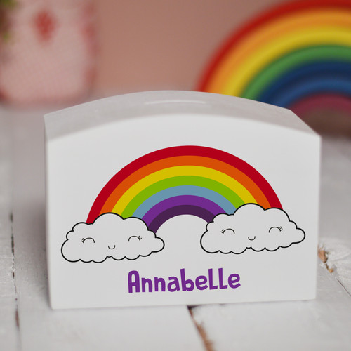 Personalised Rainbow Money Box