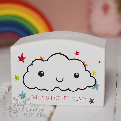 Personalised Cloud Money Box