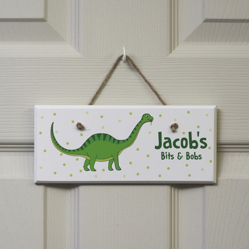 Personalised Green Dinosaur Sign