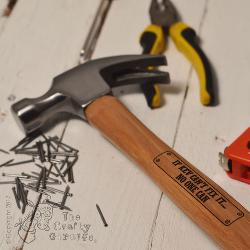 Personalised Hammer - Fix it - The Crafty Giraffe