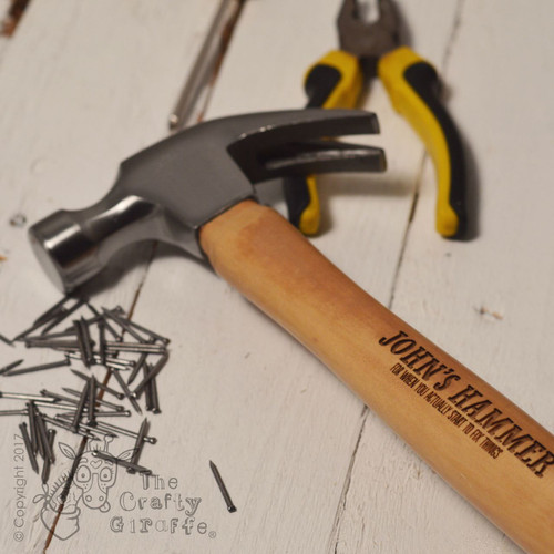 Personalised Hammer - Extra text