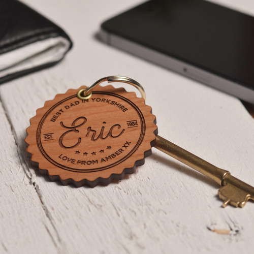Buy Personalised Best Dad Keyring From The Crafty Giraffe, the home of unique and affordable gifts for loved ones...