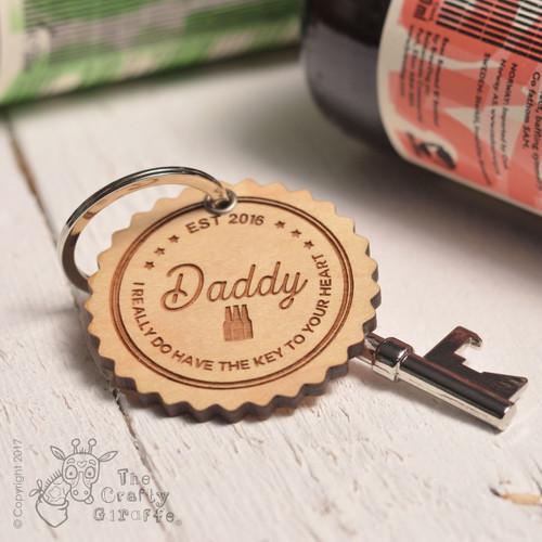 Personalised Beer Bottles Keyring and Bottle Opener