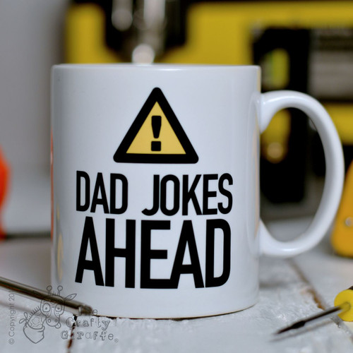 Warning Dad Jokes Ahead Mug