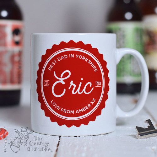 Personalised Best Dad Mug