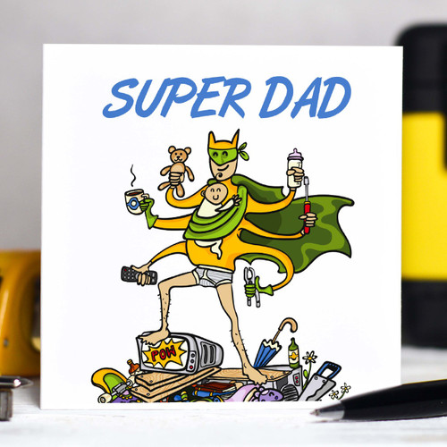 Personalised Super Dad Card - The Crafty Giraffe
