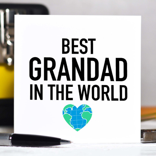 Personalised Best Grandad in the world Card - The Crafty Giraffe