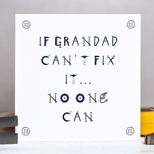 Personalised Fix It Card - The Crafty Giraffe