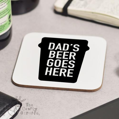 Personalised Dads Beer Coaster