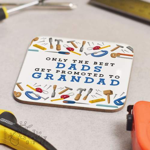 Personalised Only the best (Tools) Coaster
