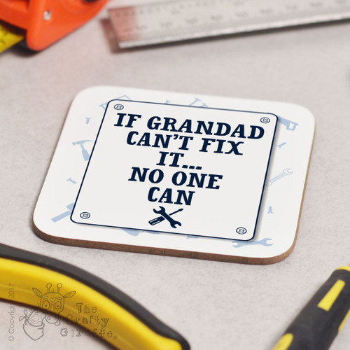 Personalised Fix It (sign) Coaster