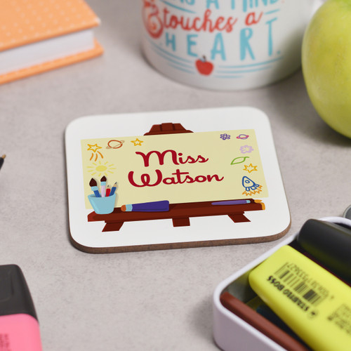 Personalised Art Easel Coaster - The Crafty Giraffe