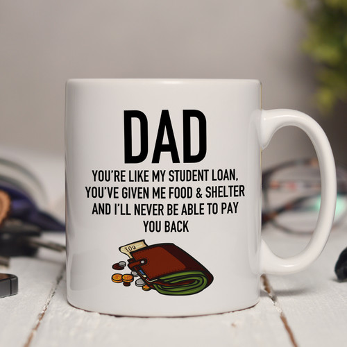 Personalised Student Loan Mug
