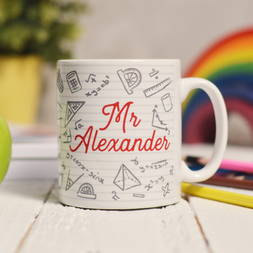 Personalised Maths Mug - The Crafty Giraffe