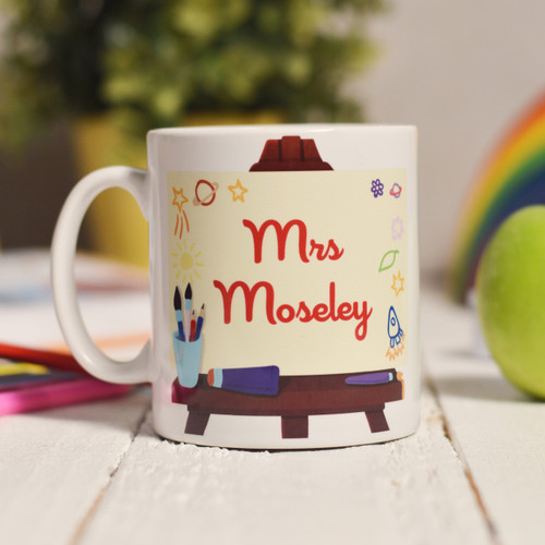 Personalised Art Easel Mug - The Crafty Giraffe