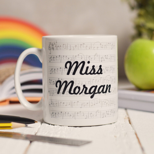Buy Personalised Music Mug From The Crafty Giraffe, the home of unique and affordable gifts for loved ones...
