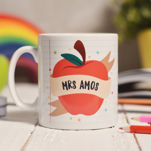 Buy Personalised Apple Teacher Mug From The Crafty Giraffe, the home of unique and affordable gifts for loved ones...