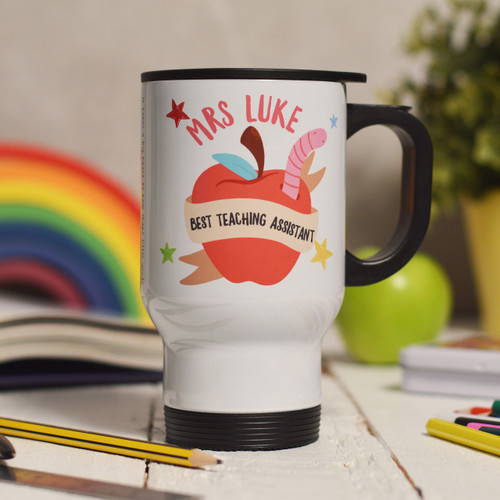Buy Personalised Best Teaching Assistant Travel Mug From The Crafty Giraffe, the home of unique and affordable gifts for loved ones...