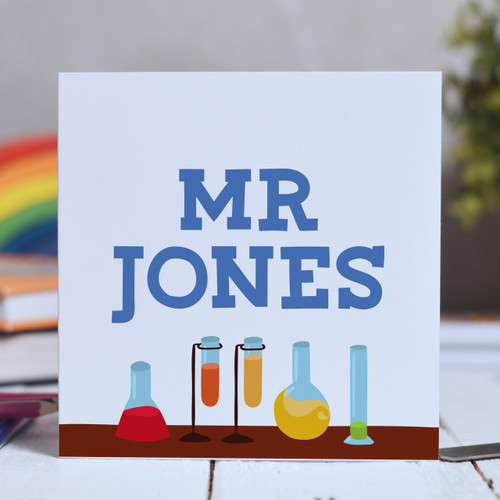 Buy Personalised Science Card From The Crafty Giraffe, the home of unique and affordable gifts for loved ones...