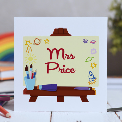 Buy Personalised Art Easel Card From The Crafty Giraffe, the home of unique and affordable gifts for loved ones...