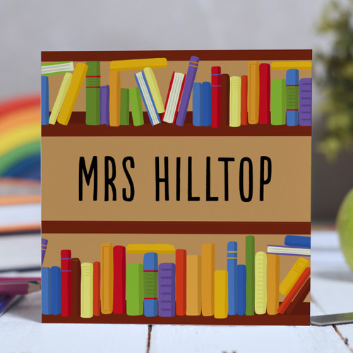 Buy Personalised Books Card From The Crafty Giraffe, the home of unique and affordable gifts for loved ones...