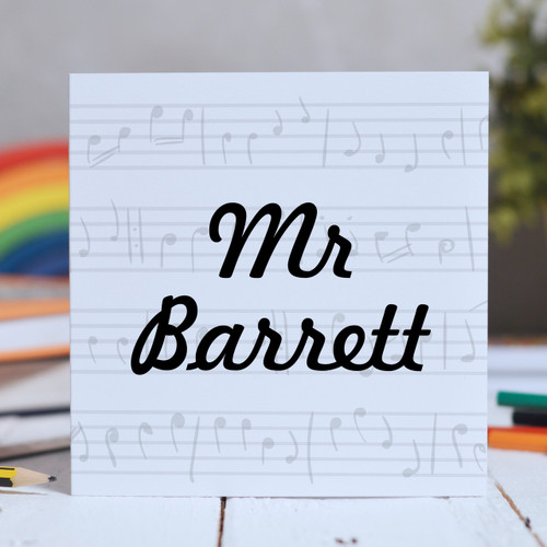 Buy Personalised Music Card From The Crafty Giraffe, the home of unique and affordable gifts for loved ones...