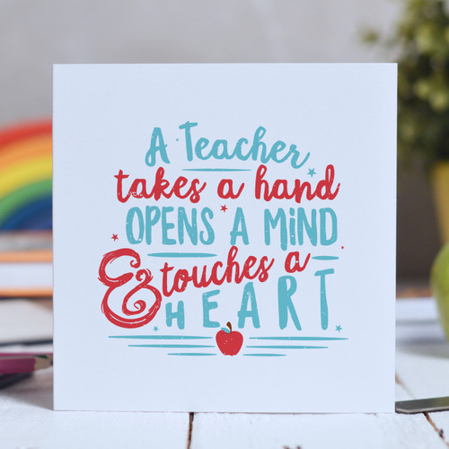 Buy A Teacher takes a hand Card From The Crafty Giraffe, the home of unique and affordable gifts for loved ones...
