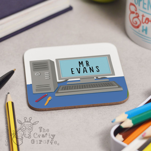 Personalised Computer Desk Coaster
