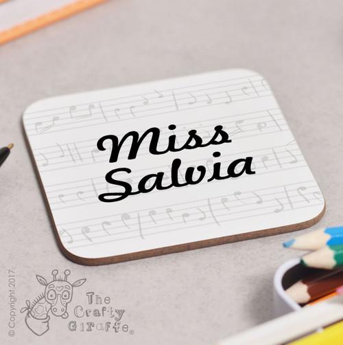 Personalised Music Coaster