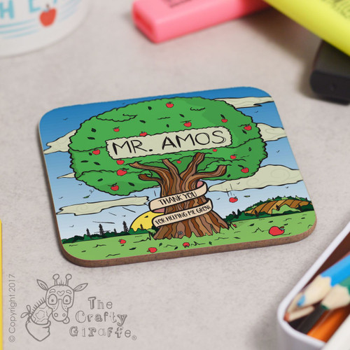 Personalised Apple Tree Coaster