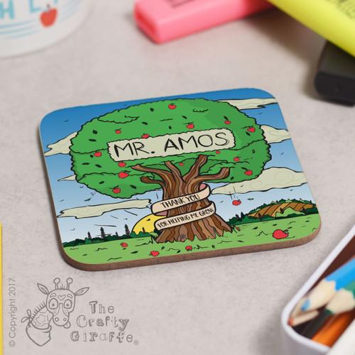 Personalised Apple Tree Coaster