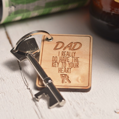Buy Personalised Key to your Heart Keyring and Bottle Opener From The Crafty Giraffe, the home of unique and affordable gifts for loved ones...