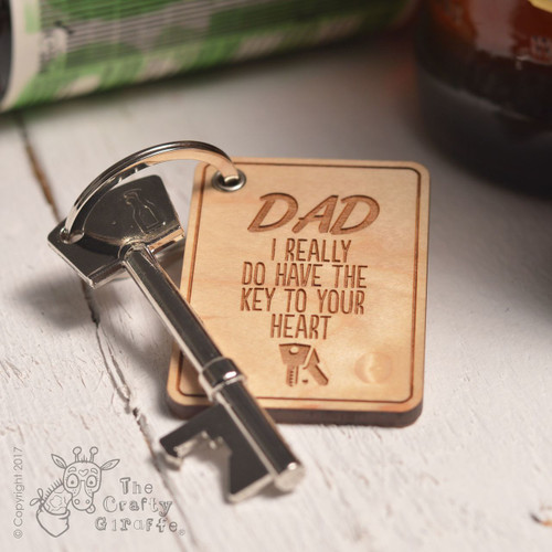 Personalised Key to your Heart Keyring and Bottle Opener - The Crafty Giraffe