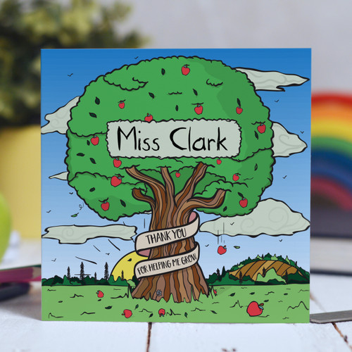Buy Personalised Apple Tree Card From The Crafty Giraffe, the home of unique and affordable gifts for loved ones...