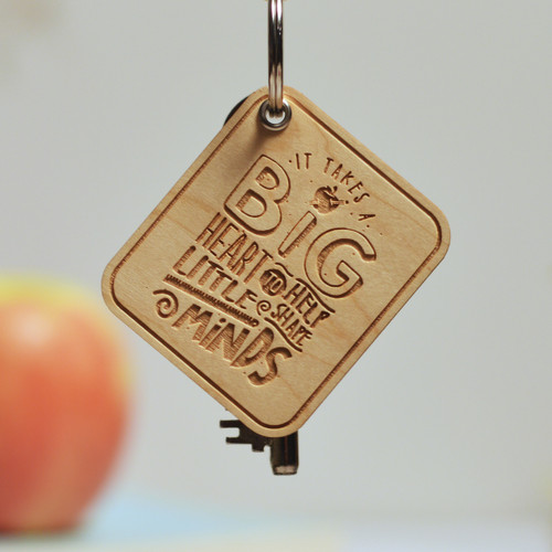 Buy It takes a big heart to help shape little minds Keyring From The Crafty Giraffe, the home of unique and affordable gifts for loved ones...