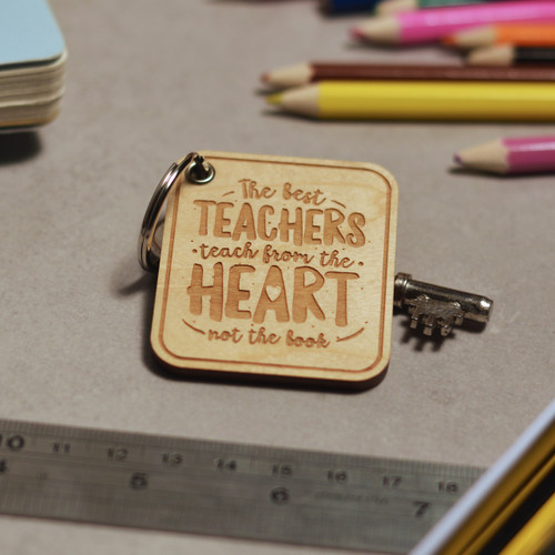 Buy The best teachers teach from the heart Keyring From The Crafty Giraffe, the home of unique and affordable gifts for loved ones...