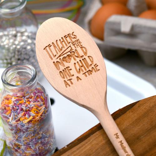 Personalised Teachers change the world Spoon