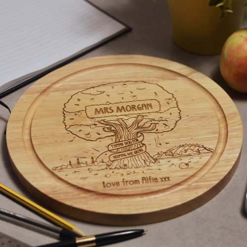 Buy Personalised Apple Tree Round Board From The Crafty Giraffe, the home of unique and affordable gifts for loved ones...