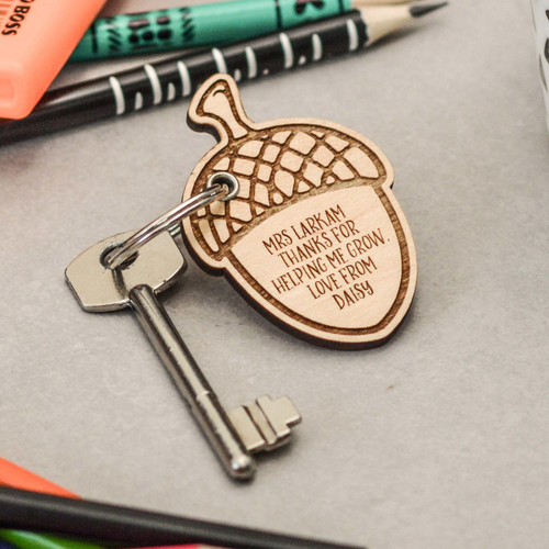 Buy Personalised Detailed Acorn Keyring From The Crafty Giraffe, the home of unique and affordable gifts for loved ones...