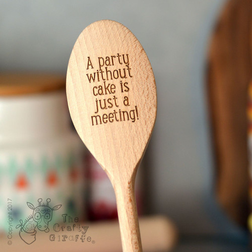 Personalised Wooden Spoon - Text Style 2