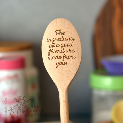 Personalised Wooden Spoon - Text Style 3